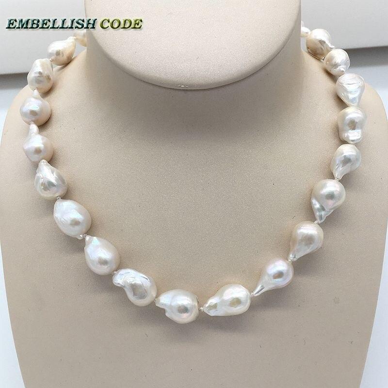 7c40785c226a Tamaño Normal barroco perla tejido nucleated llama bola forma sólo ...