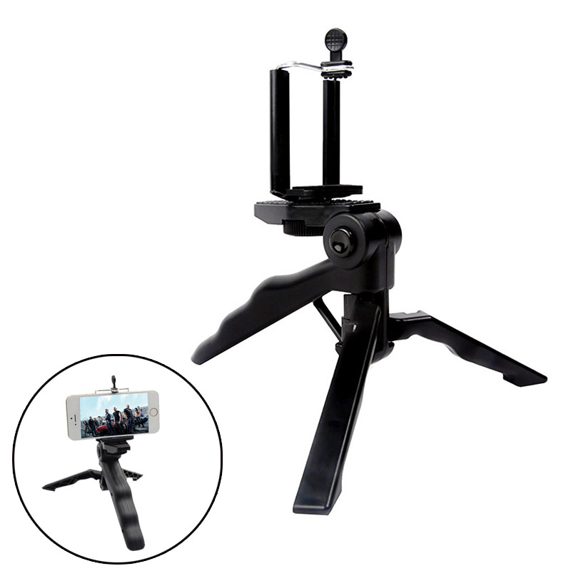 Newly 2 in 1 Tabletop Tripod & Hand Grip Stabilizer for iPhone Android Samsung Galaxy Universal Smart Phones eals @