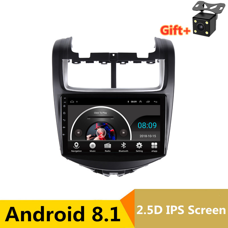 "9"" 2.5D IPS Android 8.1 Car DVD Multimedia Player GPS for Chevrolet Aveo 2013 2014 2015 audio car radio stereo navigation"