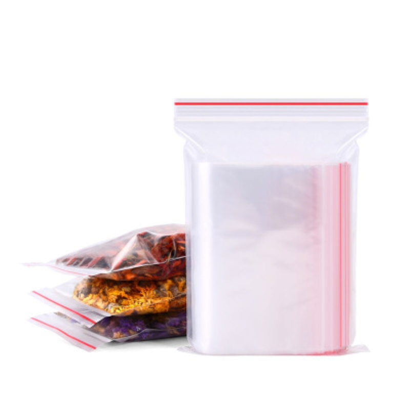 100pcs/pack Transparent Small Zip Lock Jewelry Plastic Bags Ziplock Zipped Clear Jewelry Gift Bag Reclosable Food Storage Bags