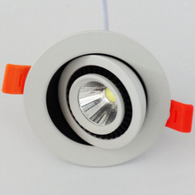 Wholesale COB 12W Dimmable Led Ceiling Down light Recessed Downlight 360 degree rotation AC85-265V