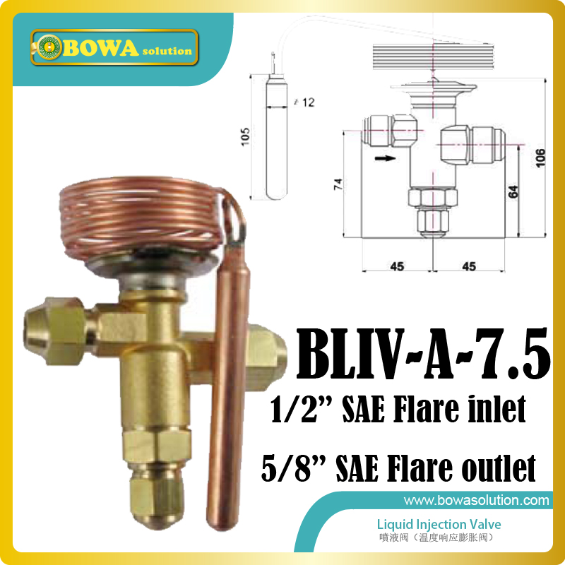 Injection valves for desuperheating the hot gas temperature and operating the intermediate pressure are the controlling variable 5 16 bi flow solenoid valves are mainly used for the defrosting of supermarket refrigeration and freezer equipments by hot gas