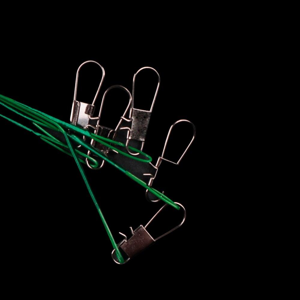 20 шт./лот LUSHAZER рыболовная леска поводок приманка рыболовный крючок леска Трассировка проволока Лидер Поворотный из нержавеющей стали прокатки Вертлюги