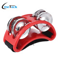 New Arrival! High Quality Foot Tambourine 2 Sets Metal Jingle Bell Percussion Musical Instrument
