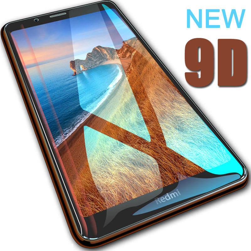 9D Redmi 7A Glass Protective Glass On For Xiaomi Redmi 7A Screen Protector Tempered Glass Full Cover xiomi xiami ksiomi redmi 7a-in Phone Screen Protectors from Cellphones & Telecommunications