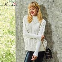 Kinikiss Women Sweaters And Pullovers Autumn Turtlenect Long Sleeve Cashmere Women Winter Warm Fashion Casual Knitting
