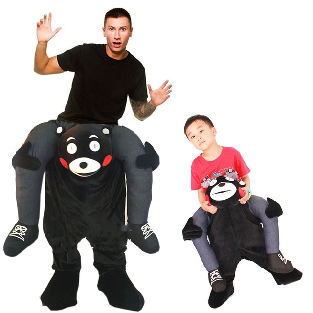 Adult Kid Ride on Bear Oktoberfest Costume Bear Cosplay Carrying Back Mascot Costume Halloween Animal Pants  sc 1 st  AliExpress.com & Adult Kid Ride on Bear Oktoberfest Costume Bear Cosplay Carrying ...