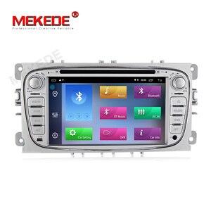Image 2 - Автомобильный DVD плеер HD, Android 10,0, 2 + 32 ГБ, 2 Din, радио, GPS, Navi, для Ford Focus, Mondeo, Kuga, C MAX, Galaxy Audio, головное устройство