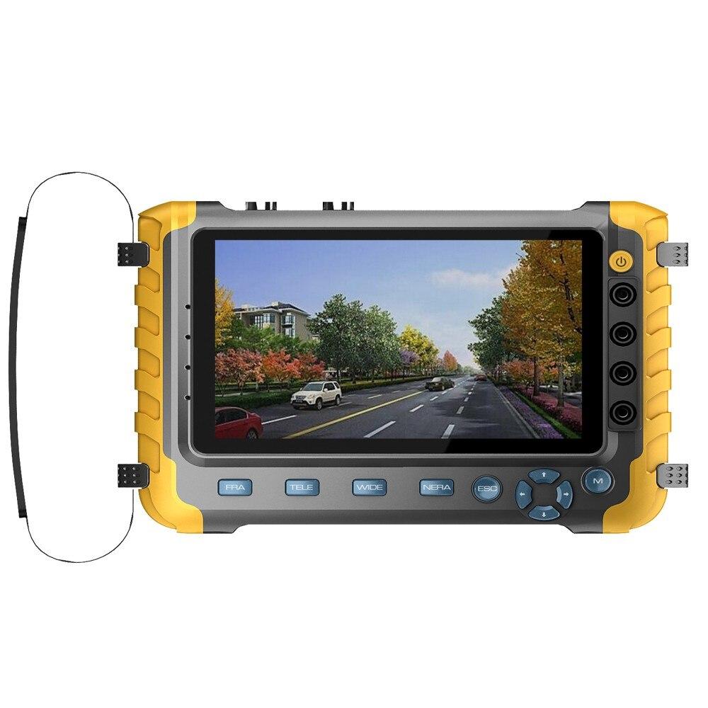 Portable AHD TVI CVI CCTV Camera Tester Support Audio Video Coaxial HD Testing With HDMI VGA Input BNC Output TFT LCD Display