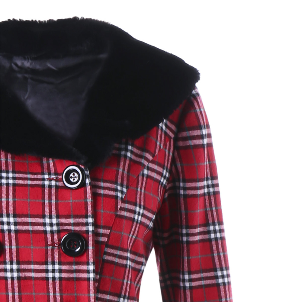 f504e291700 AZULINA Plus Size Winter Coat Women Double Breasted Plaid Swing Ladies Tops  Casual Buttons Wool Coats Womens Outerwear Overcoat-in Wool   Blends from  ...
