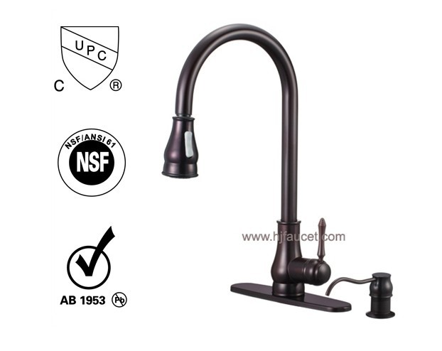 upc 61 9 nsf water ridge single handle pull out kitchen faucet-in ...