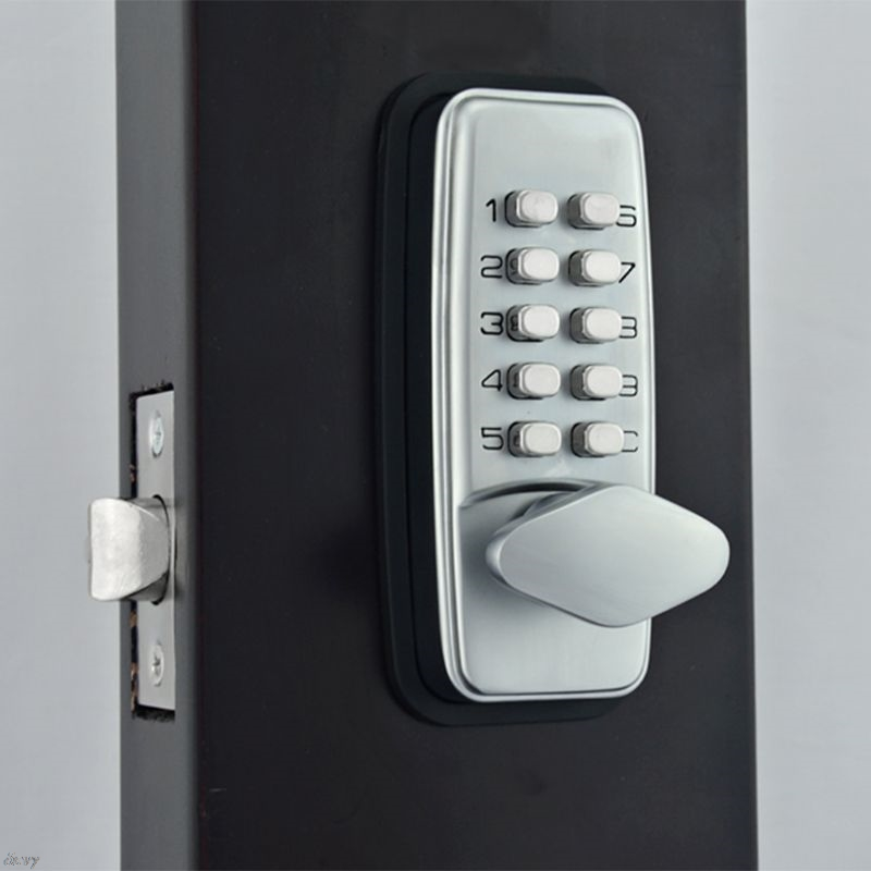 все цены на Zinc Alloy Digital Push Button Mechanical Lock Combination Numberal Deadbolt Door Lock Keyless Password Non-Power Lock онлайн
