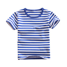 Boys Tops 2018 Kid T shirts Summer Children Clothing for Boys and Girls Striped Tee Shirt Short Sleeve Cotton Tops 3-16T BC004