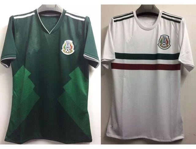 Free shipping New A+++thai quality Mexico 2018 fasion green white shirt b39161de2
