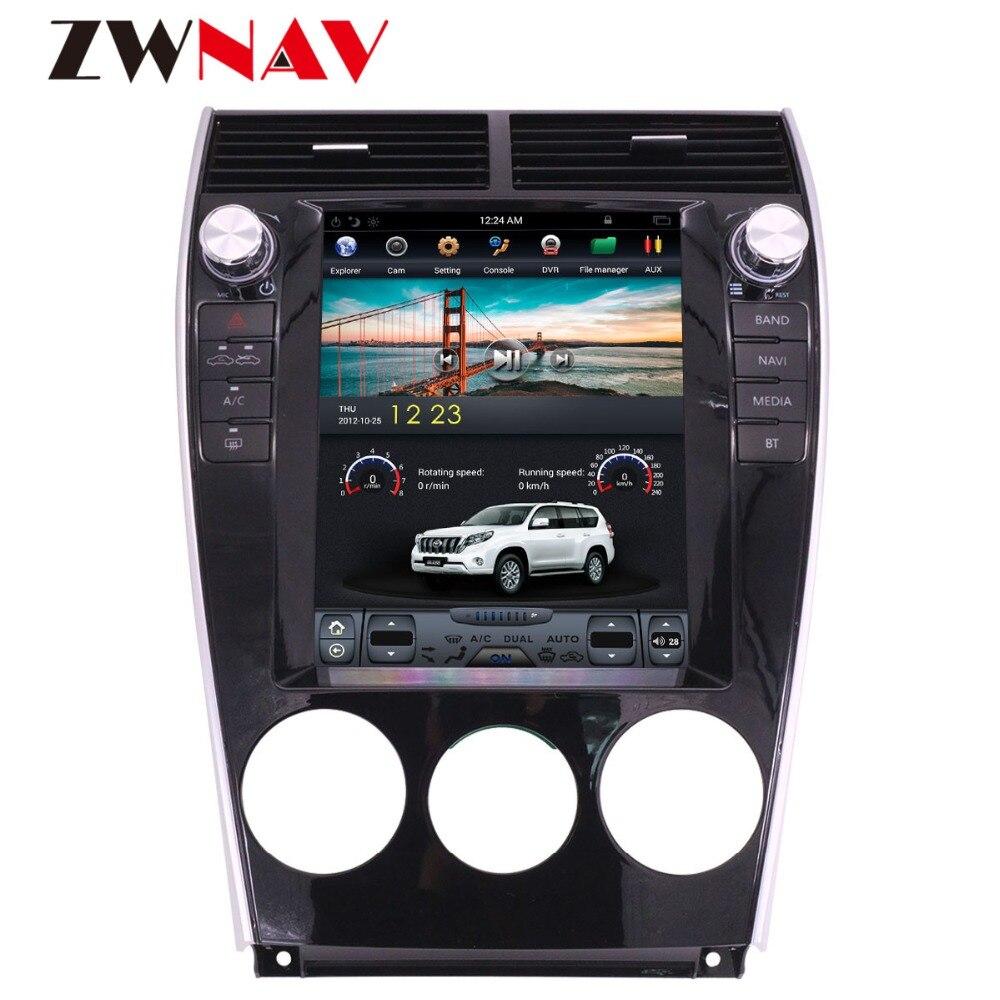 ZWNVA Тесла стиль ips Экран автомобильный dvd плеер Android 6,0 автомобиля радио gps навигации для Mazda6 Mazda 6 2002 2015