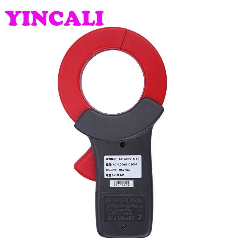 Braçadeira de alta Precisão de Medição de corrente de fuga AC Vazamento Current Meter ETCR6800, corrente AC e medição on line - 5
