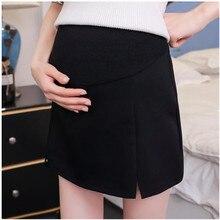 Модные юбки для беременных летние резинка на талии живота юбки с разрезом сбоку юбки для беременных женщин B0432
