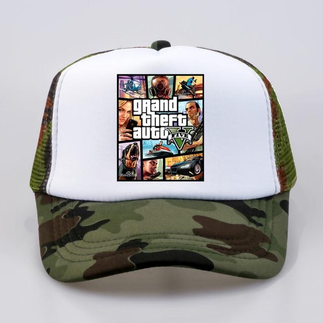 Модная бейсболка Grand Theft Auto V 5 GTA 5 популярная игра GTA 5 Fans cap крутая летняя сетчатая Кепка-бейсболка