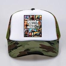 Мода Grand Theft Auto V 5 GTA 5 бейсболки для женщин Горячая игра GTA 5 вентиляторы кепки прохладное лето Сетка Дальнобойщик кепки S шляпа