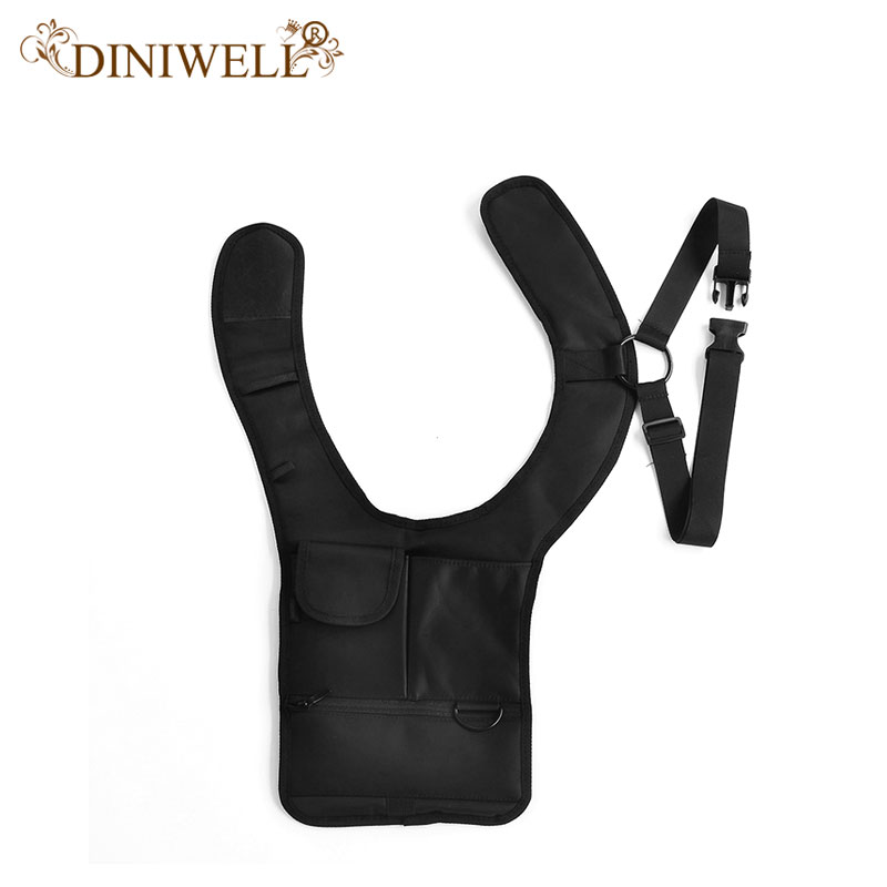 DINIWELL Travel Anti-Theft Safety Hidden Underarm Holster Skuldertaske Sport Opbevaringspose til Passport Coin Key Pen Phone Pad