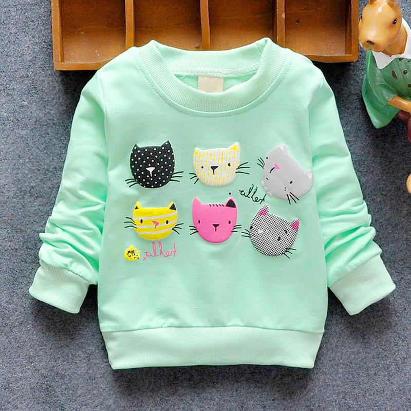 50b16a3c5a 2019 New Arrival Baby Girls Sweatshirts Winter Spring Autumn Children  Hoodies 6 Cats Long Sleeves Sweater Kids T shirt Clothes-in Hoodies    Sweatshirts from ...