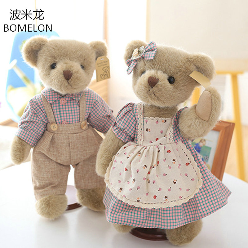 33CM Rural Style Jointed Teddy Bear in Clothes Cute Plush Bear Toys Soft Stuffed Plush Animals Doll Kids Birthdya Christmas Gift рама каркас дл ванны cersanit joanna 140 метал в комплекте со сборочным пакетом k rw joanna 140n k rw joanna 140