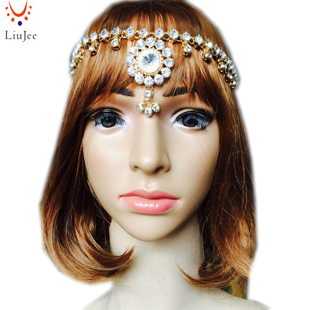 Jeweled Head Piece Bridal Wedding Boho Grecian Dess Glamour Fancy Hair Accessory Kd041