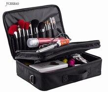 2019 Women High Quality Professional Makeup Organizer Bolso Mujer Cosmetic Case Large Capacity Storage Bag Disassembly Suitcases цена в Москве и Питере
