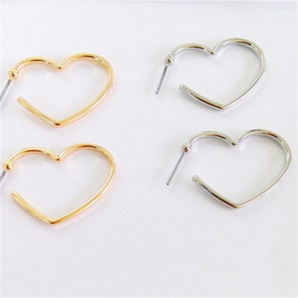 lirysjewelry studs cz heart earring gold products earrings yellow shaped bunny white img