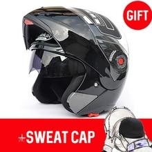 JIEKAI 105 Motorcycle helmets Flip up double visors helmet R