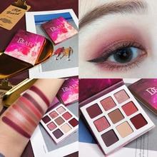 Eyeshadow Palette 9 Color Glitter Shimmer Matte Eyes Makeup Pallete Pigmented Waterproof Eye Shadow Pallete Beauty Cosmetic все цены