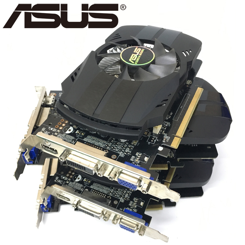 ASUS Video Card Original GTX 750Ti 2GB 128Bit GDDR5 Graphics Cards for nVIDIA