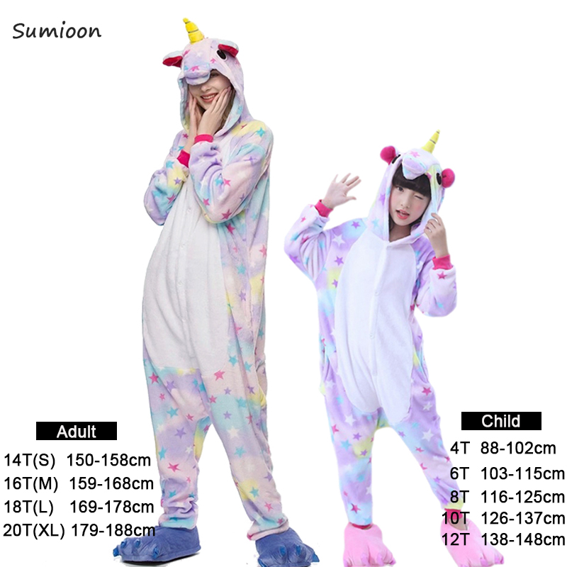 Pajamas   For Girls Boys Adults Animal   Pajamas     Sets   Sleepwear Unicorn   Pajamas   Stitch Kigurumi Unicornio Women Onesie Pyjamas Kids