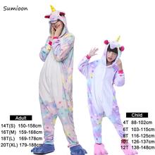 Piżamy dla dziewczyn chłopcy dorośli zwierzęta piżamy zestawy Sleepwear Unicorn piżamy Stitch Kigurumi Unicornio kobiety Onesie piżamy dzieci tanie tanio sumioon Bawełna poliester Unisex Kreskówki Pajamas Sets Flaneli Pełne Regularne 85(100) 95(110) 105(120) 115(130) 125(140) S M L XL
