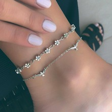 Buy flower chain anklet ankle bracelet barefoot sandal beach foot jewelry  14k gold and get free shipping on AliExpress.com a42b69f1d076