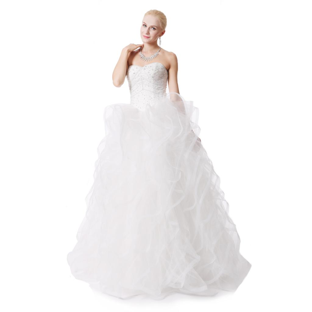 Wedding White Gown Dress: White Ball Gown Wedding Dresses Plus Size Sleeveless Lace