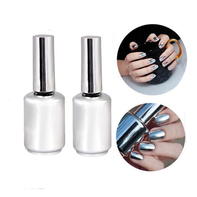 Compra uñas de gel de plata metálica online al por ...