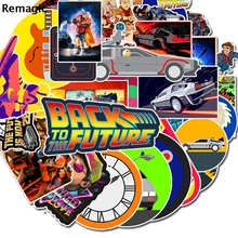 50pcs back to the future anime vintage pasters gifts toy cosplay funny decal scrapbooking diy stickers phone laptop waterproof