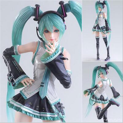28cm big size Hatsune Miku  joint Movable Anime Collectible Action Figure PVC toys for christmas gift with retail box