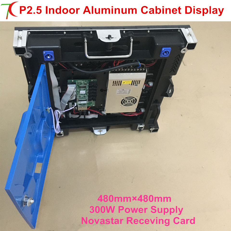 High refersh 480*480mm 16scan P2.5 indoor die-casting aluminum cabinet for hd rental led display,2500cd