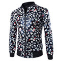 New Pu Leather Jacket Men 2015 Fashion Design Skull Printed Mens Slim Fit Jacket Brand Motorcycle Biker Jacket Jaqueta Couro