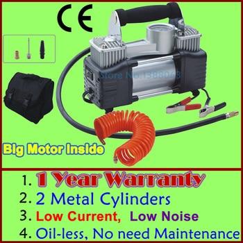 Wholesale High Quality 1 YEAR WARRANTY Double Cylinder Car Portable Air Compressor Metal air compressor 12V