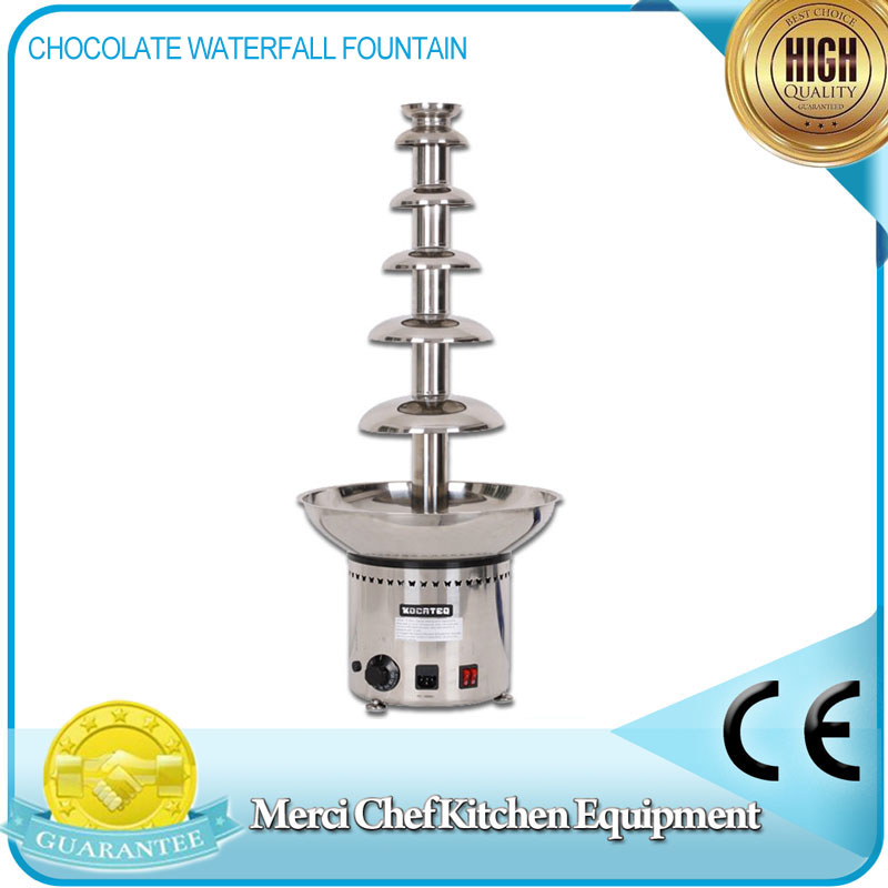 Chocolate Waterfall Machine With Full Stainless Steel Food Machine 6 Layers Chocolate Fountains Commercial fast shipping food machine digital chocolate melting machine stainless steel chocolate machine household and commercial