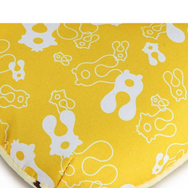 Soft and Comfy U-shaped Animal Design Pillow Head support – Yellow lion