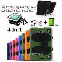 Für Samsung Galaxy Tab S2 9,7 SM-T810 T810 T811 T813 T815 Tablet Heavy Duty Robuste Schlag Hybrid Kick Schutzhülle abdeckung
