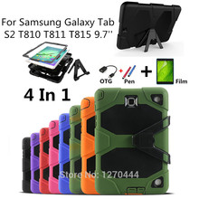 For Samsung Galaxy Tab S2 T810 T811 T813 T815 T819 Cover Tablet Heavy Duty Rugged Impact Hybrid Case Kickstand Protective Cover все цены