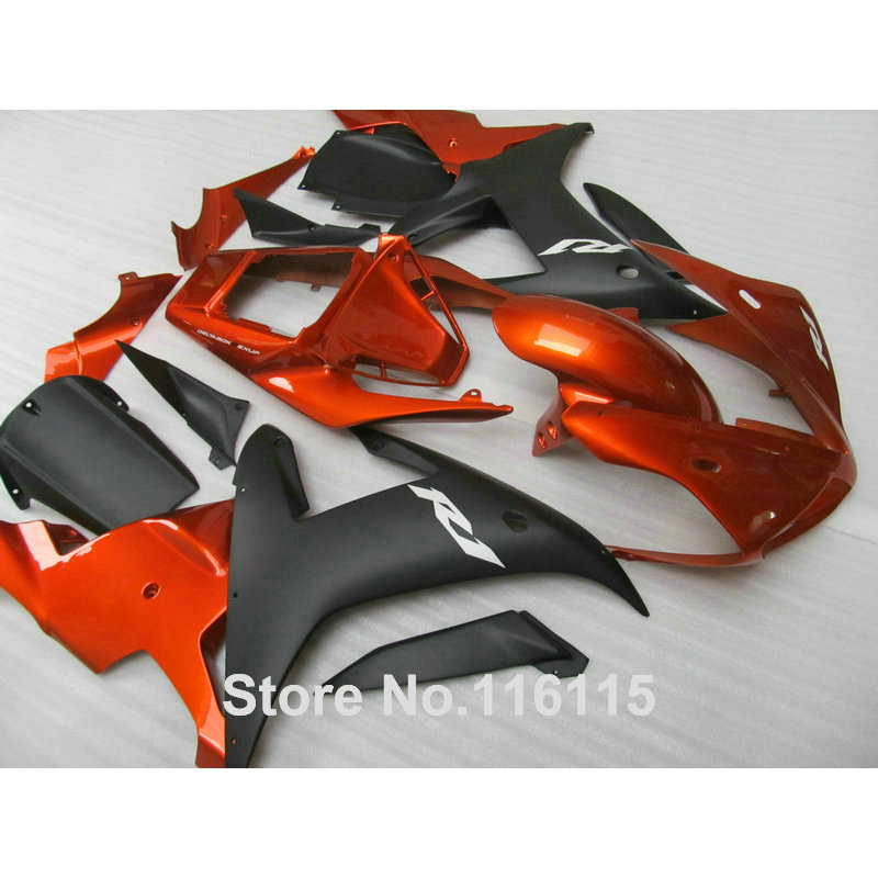High quality ABS Fairing kit for YAMAHA R1 2002 2003 matte black copper fairings set Injection molding YZF R1 02 03 YZ26