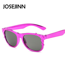 New Child square plastic frame black lens Sunglasses Kids Designer Boys Girls party Glasses Oculos