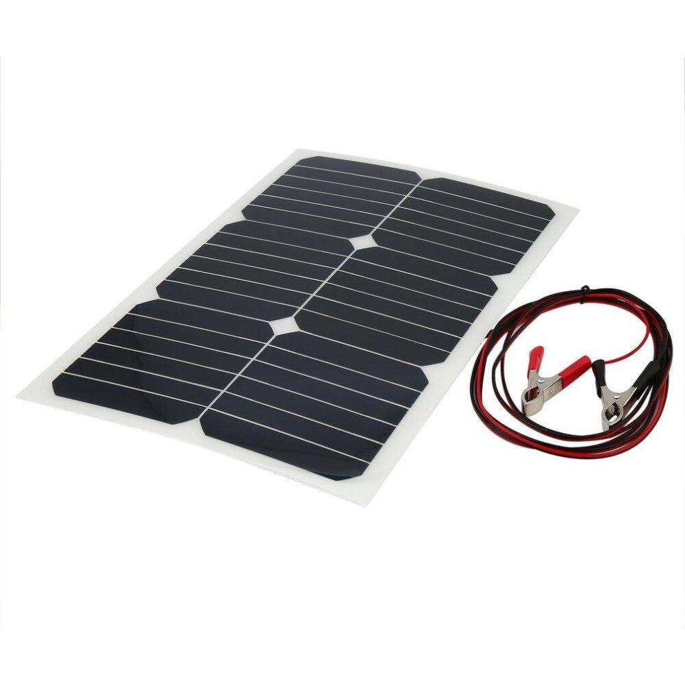 Chargeur solaire portatif de panneau solaire de chargeur de batterie de voiture de 18 V 20 W avec la prise d'agrafe de charge de batterie d'allume-cigare