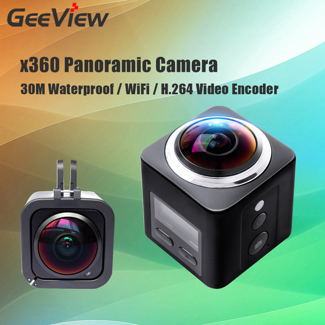 360 Action Camera Wifi Mini Panoramic Video 360 VR Camera 2448*2448 Full HD Sport Driving Cam With 30M Waterproof Case